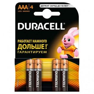 Элемент питания DURACELL Ultra LR03 (ААА) 4шт