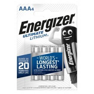 Элемент питания Energizer ULTIMA LITHIUM LR03 (ААА) 4шт