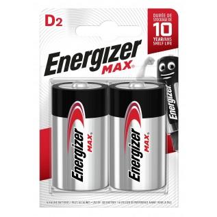 Элемент питания Energizer MAX LR20 (D) 2шт
