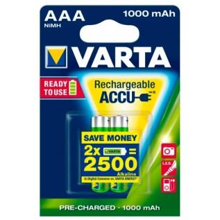 Аккумулятор Varta HR03 1000 mah 2шт